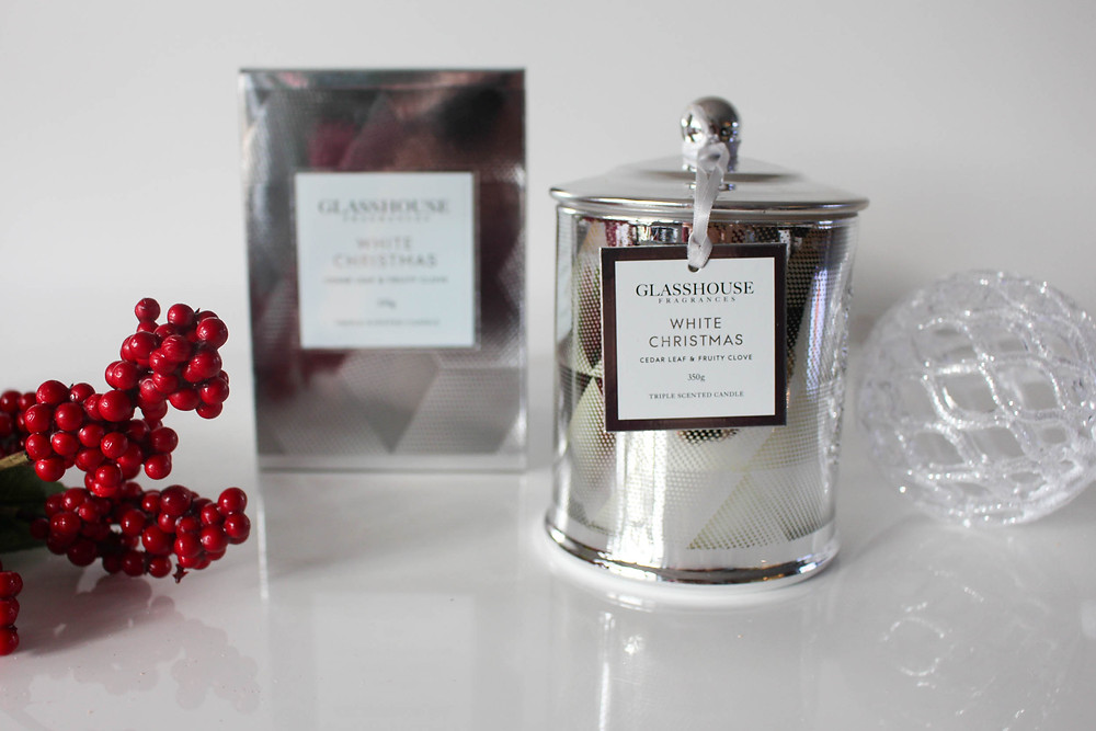 Glasshouse Fragrances White Christmas: Cedar Leaf & Fruity Clove reviewed by Mr Neo Luxe
