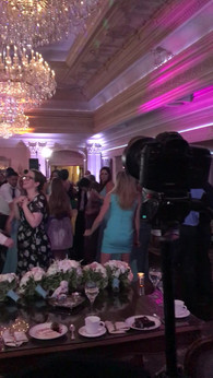 Shooting a time-lapse during the reception.