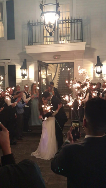 Wrapping up the evening with a sparkler exit!