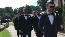Working with the groomsman on a beautiful summer day.