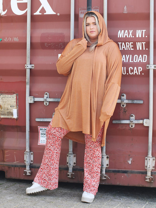OVERSIZED LUCHTIGE SHIMMER SWEATER ROEST