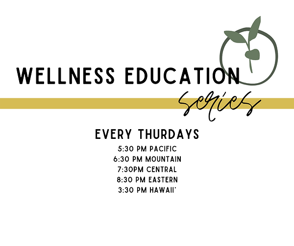 Copy of Copy of Wellness Education Serie