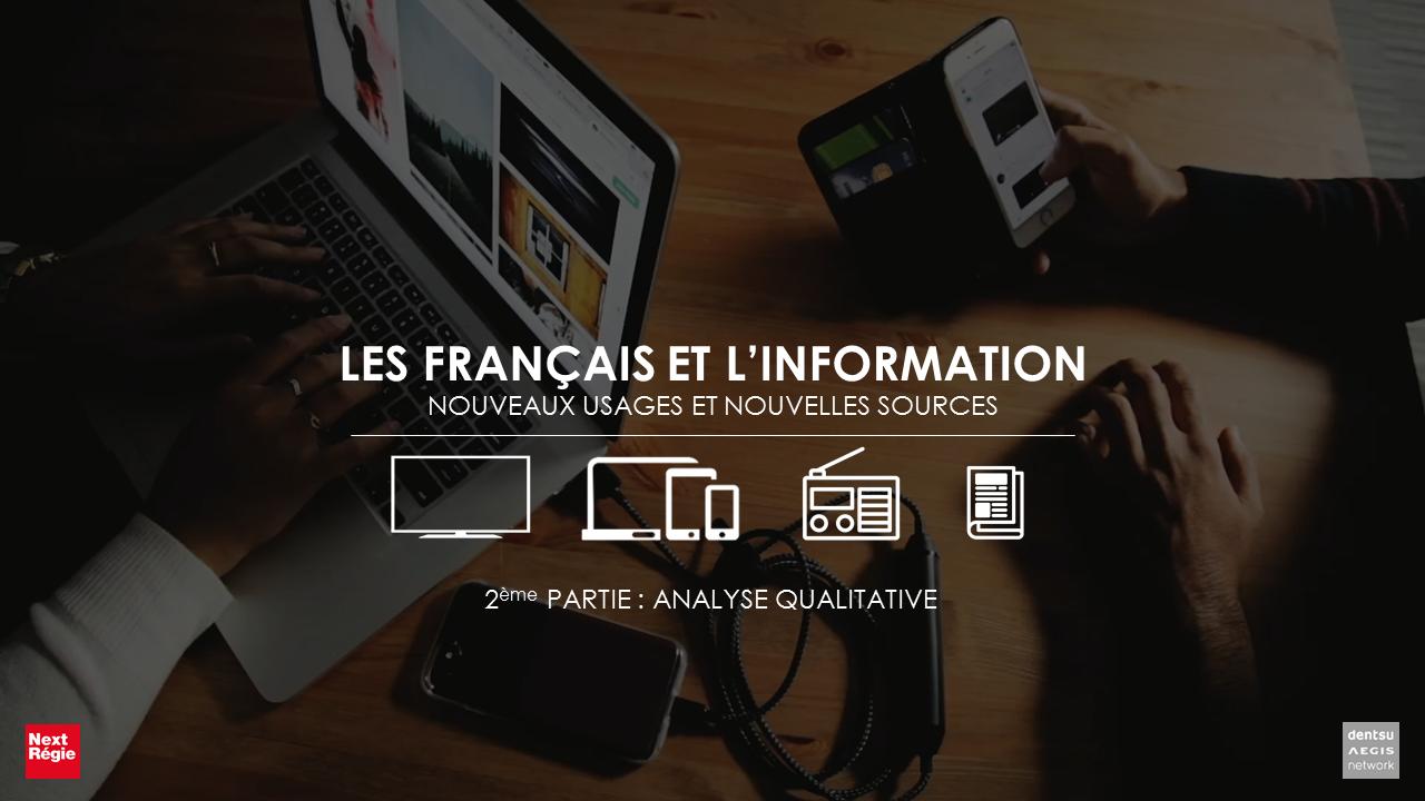Etude « Les Français et l'info »