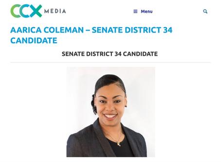 Aarica Coleman Runs for Senate District 34