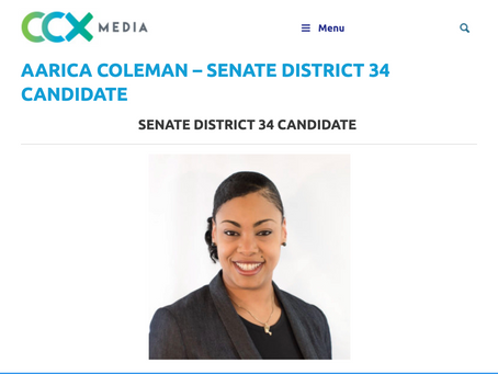 Aarica Coleman Runs for Senate District 34