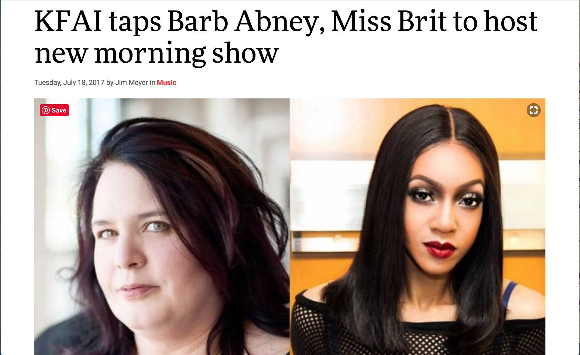 DJ Miss Brit Morning Show Radio Host