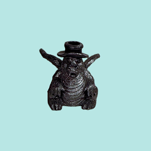 Vintage Pewter Dragon Kaleidoscope Figurine