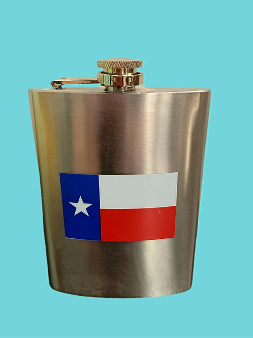 Stainless Steel Texas Flag Flask