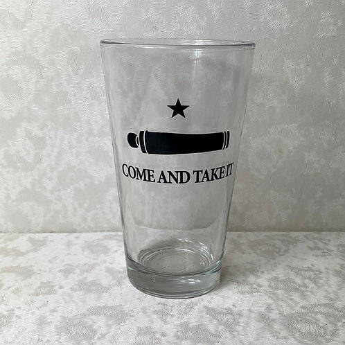 Texas Come & Take It Pint Glass