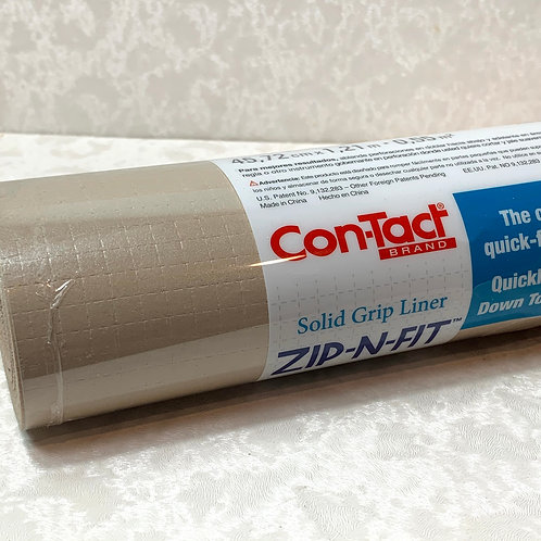 Con-Tact Zip-N-Fit Premium Non-Adhesive Shelf Liner 'Taupe
