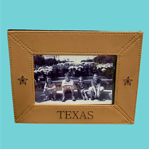 Texas Leather Photo Frame 4x6