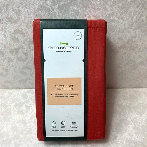 Threshold Ultra Soft Full Size Flat Sheet  'Red