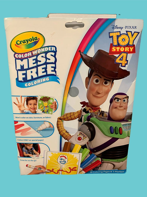 Crayola Wonder Toy Story 4 Mess Free Coloring Kit Ages  3-6