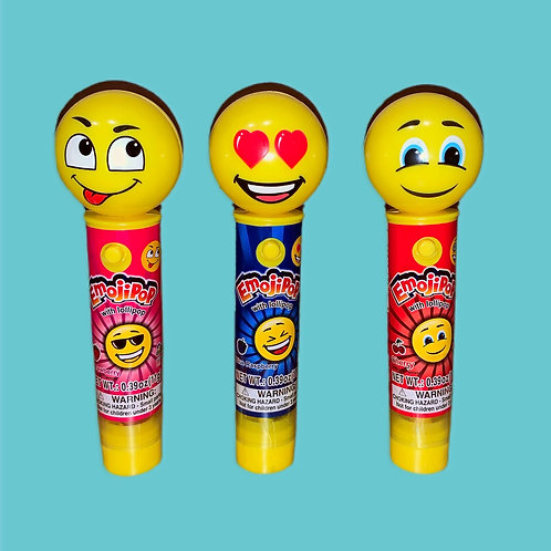 Kidsmania Laser Pop Emoji Pop with Lollipop