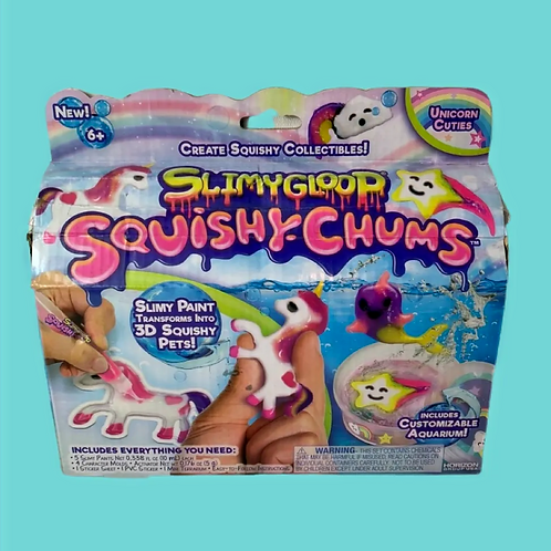 Slimygloop Squishy Chums Mystical Kit with Aquarium