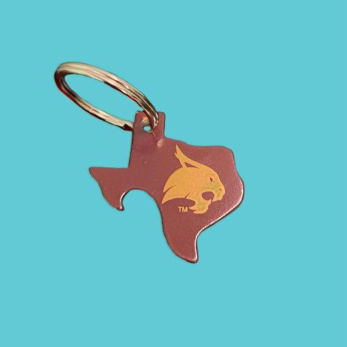 Texas State Bobcats Bottle Opener Keychain