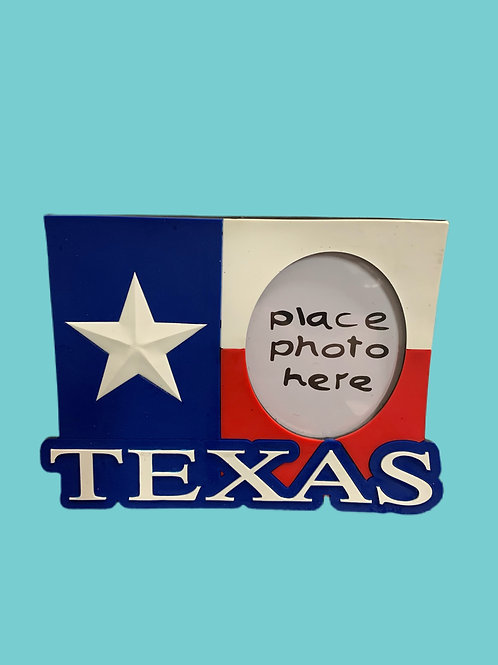Texas Standing Photo Frame, Rubber & Magnetic