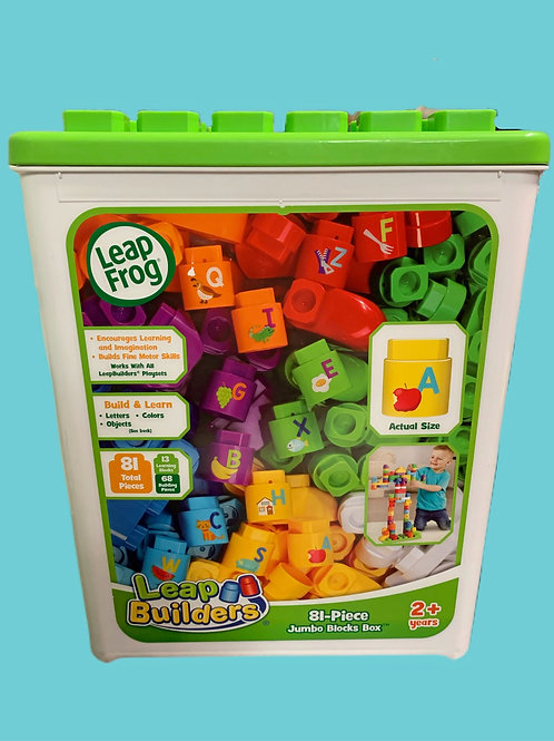 Leap Frog Leap Builders 81-Piece Jumbo Educational Blocks