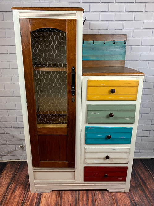 Rustic Antique Up Cycled Cabinet