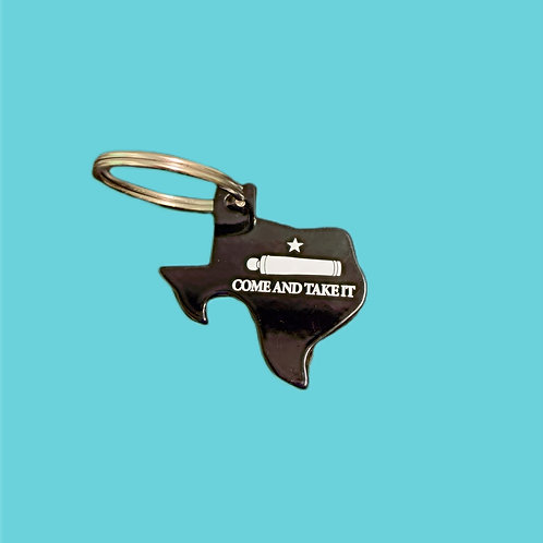 Texas Come & Take It Bottle Opener Keychain
