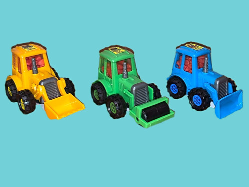 Kidsmania Bubble Dozer Trucks Filled with Gum Nuggets