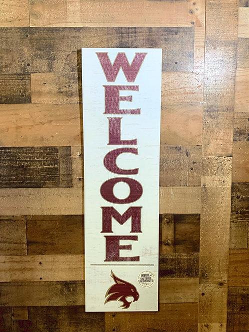 """Texas State University Indoor/Outdoor Welcome Sign 35""""x10"""""""