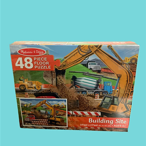 Melissa & Doug Building Site Floor Puzzle -48 Pieces