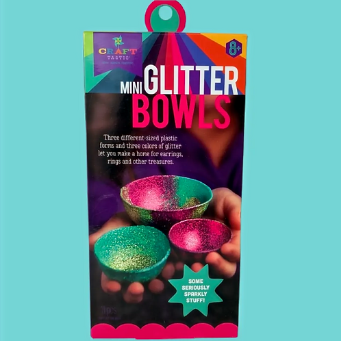 Craft-tastic – Mini Glitter Bowl Kit