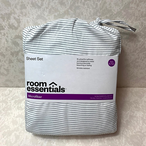 Microfiber Stripped Twin/XL Twin Sheet Set - Room Essentials™