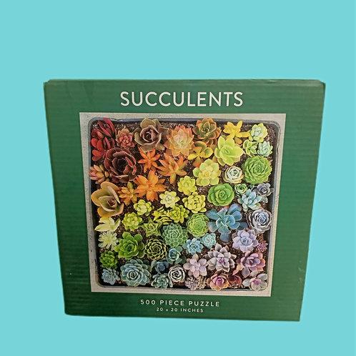 galison Succulents 500 Piece Puzzle