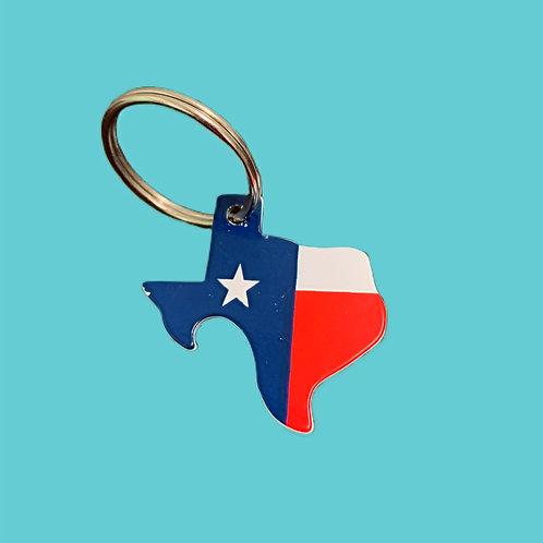 Texas Flag Bottle Opener Keychain