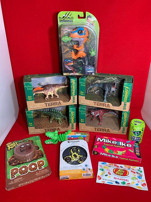 Dinosaur Gift Bag & Stuffed Stocking
