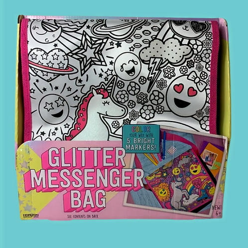 Just My Style Color Your Own Glitter Messenger Bag