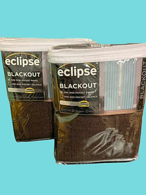 Eclipse Black Out Curtains, Kendall Chocolate, Set of 2