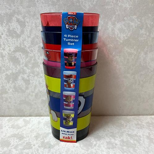 PAW Patrol, 4pk Plastic Tumbler Set - Zak Designs
