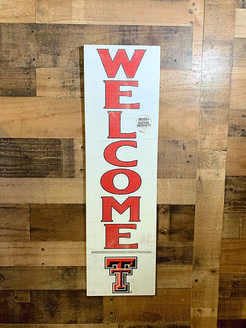 "Texas Tech University Indoor/Outdoor Welcome Sign 35""x10"""