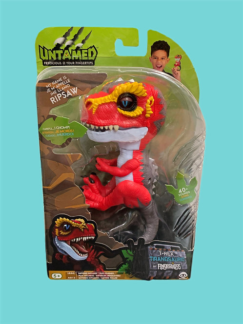 Untamed T-Rex by Fingerlings – Ripsaw (Red) - Interactive Dinosaur