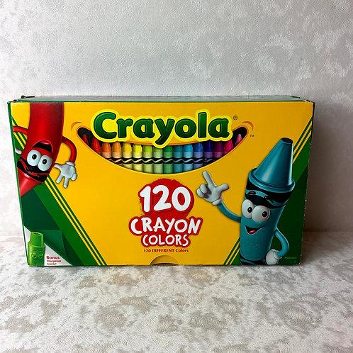 Crayola 120 Box w/Sharpener