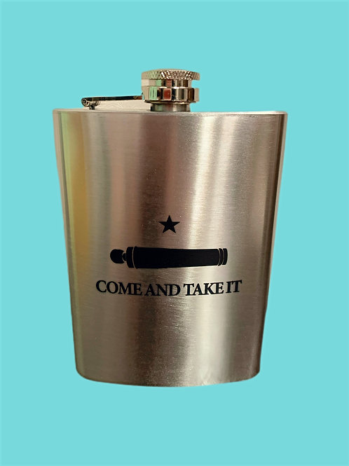 Stainless Steel Texas Come & Take It Flask