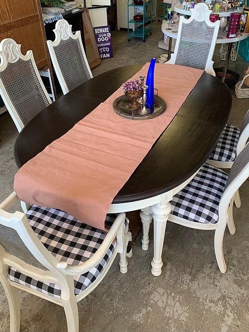 Farmhouse Refinished Vintage Drexel Dining Table Set