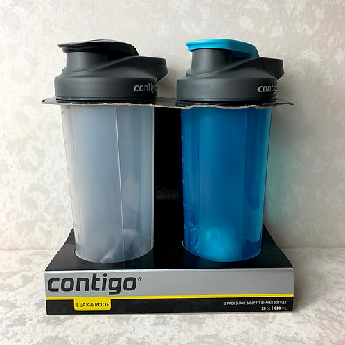 Contigo Shake & Go Fit Snap Lid Shaker Bottle, 28 oz. (Mix, 2)