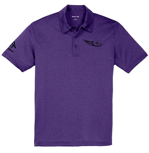 Ultimate Logo Dry Fit Heathered Polo