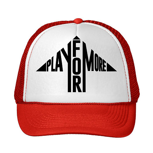 Play For More Logo Snap Back Trucker Hat
