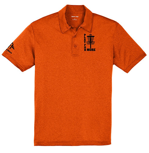 Disc Golf Logo Dry Fit Heathered Polo