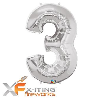 3 Number Helium Balloon