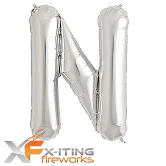 N Letter Helium Balloons