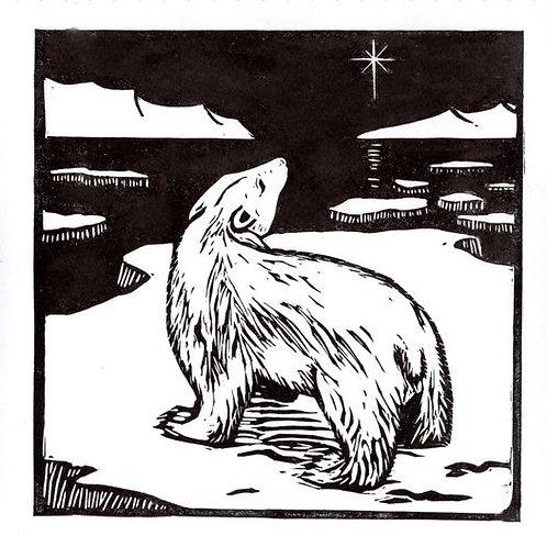 Polar Bear cards x 4