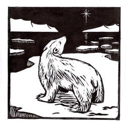 Polar Bear Christmas card