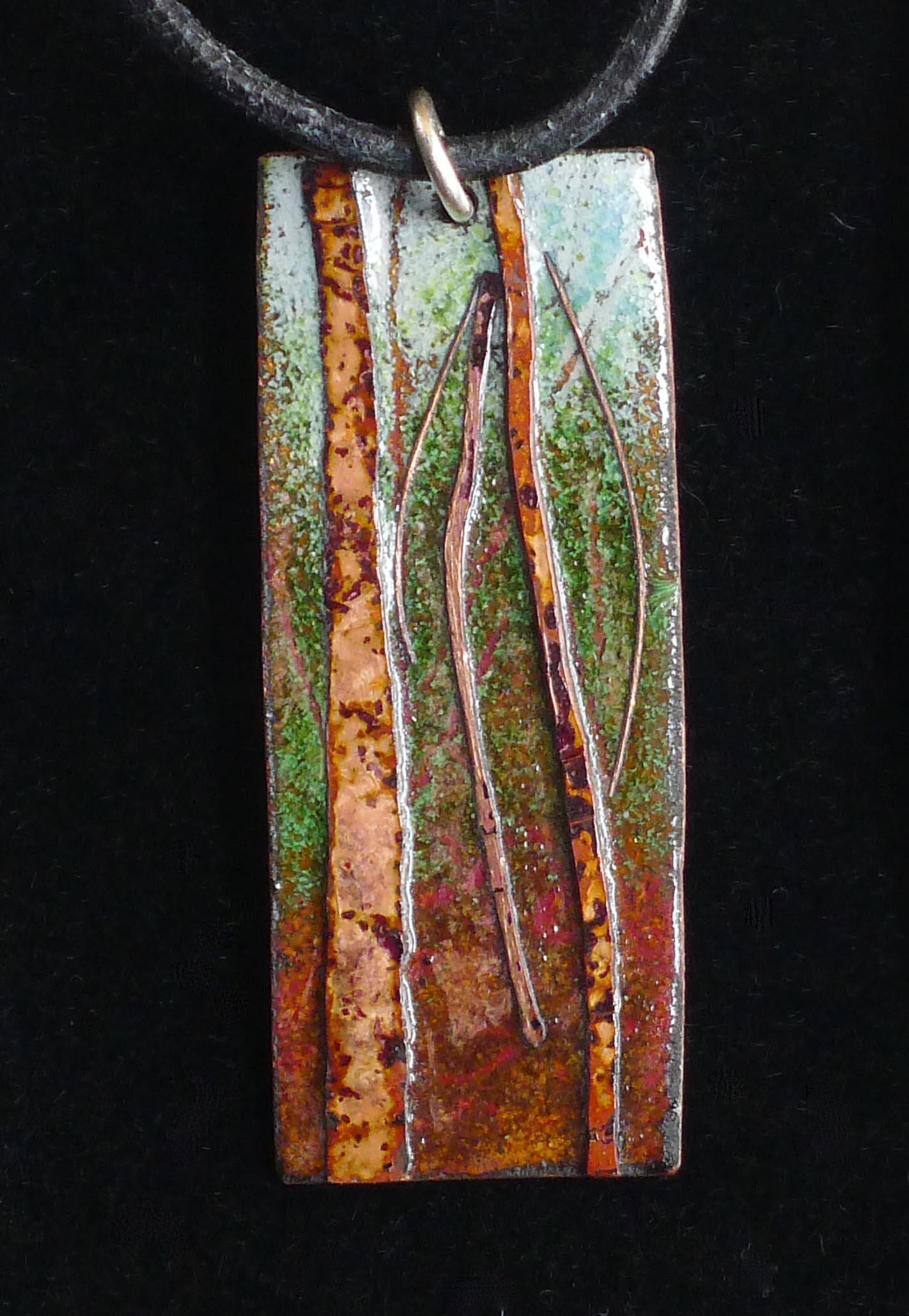 Enamel Woodland Pendant