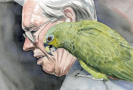Lord Gage & Taki watercolour